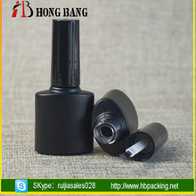 Wholesale different shape 5ml 10ml 15ml custom empty nail polish bottle design with black cap