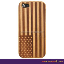 US Flag Retro Wood Style For Apple For iPhone 6 Wooden Bamboo Hard pnone Case Cover