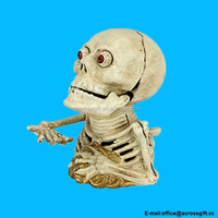 Hungry Skeleton Cast Iron Mechanical Coin Bank