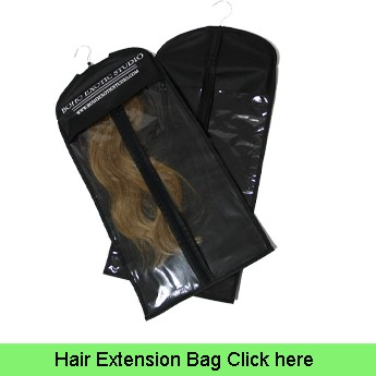 plastic garment bag packaging for hair extensions