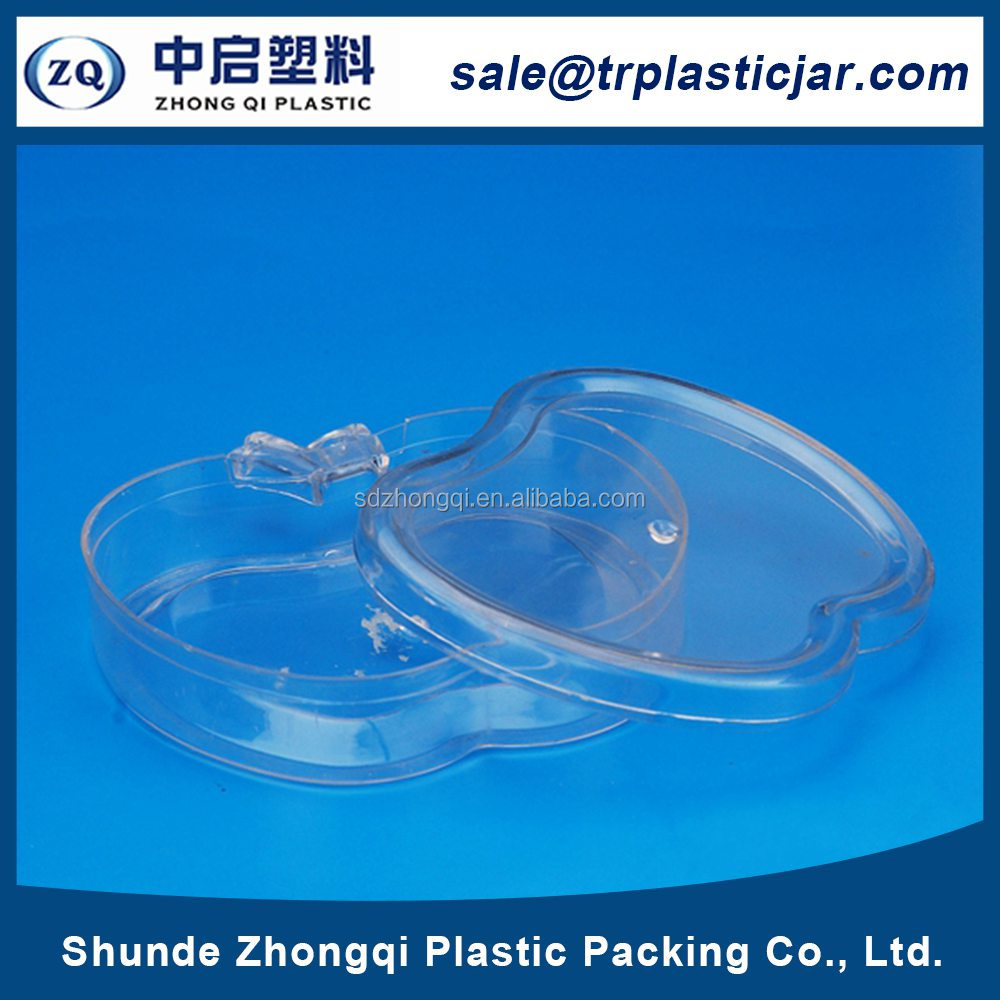 Mass supply 80ml apple shape PS plastic box,80ml apple shape baby candy bottle