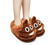 Fun Warm Cute Plush Emoji Slipper for Kids Adults, Poop Emoji Kids Slipper