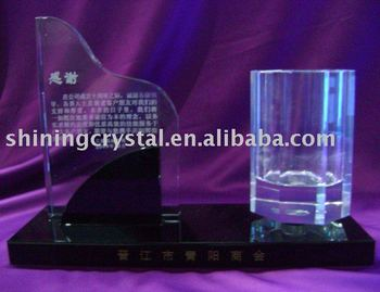 2012 new design crystal office stationery table set
