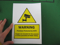 self adhesive warning sticker (M-W005)