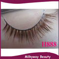 H888 style 100% Real Horse hair brown color crossing false horse fur hair eyelashes