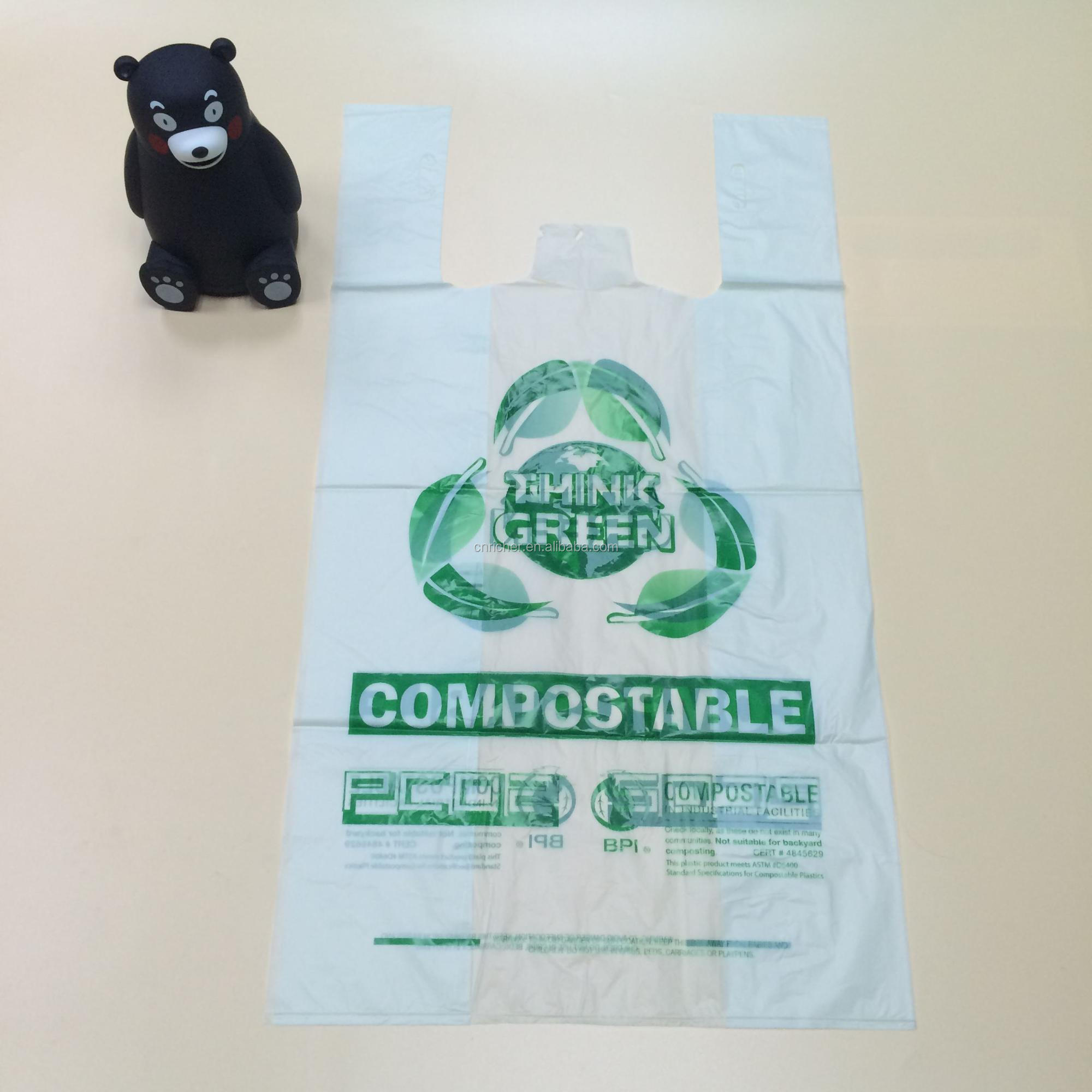 Factory price disposable custom size service plastic shopping tote  bags with logo grocery bags