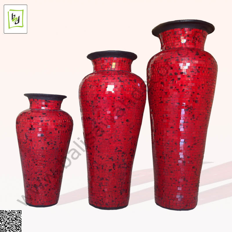 VASE GUCI RED ROSE MOSAIC