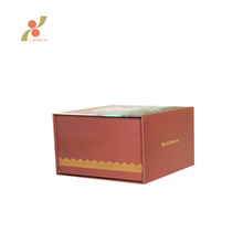rigid cardboard foldable type logo Paper gift packaging Boxes
