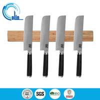 wooden magnetic knife rack in strong magnetic