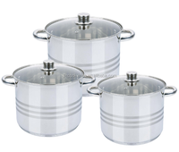Best and First-choose stainless steel stock pot cookware set made in China
