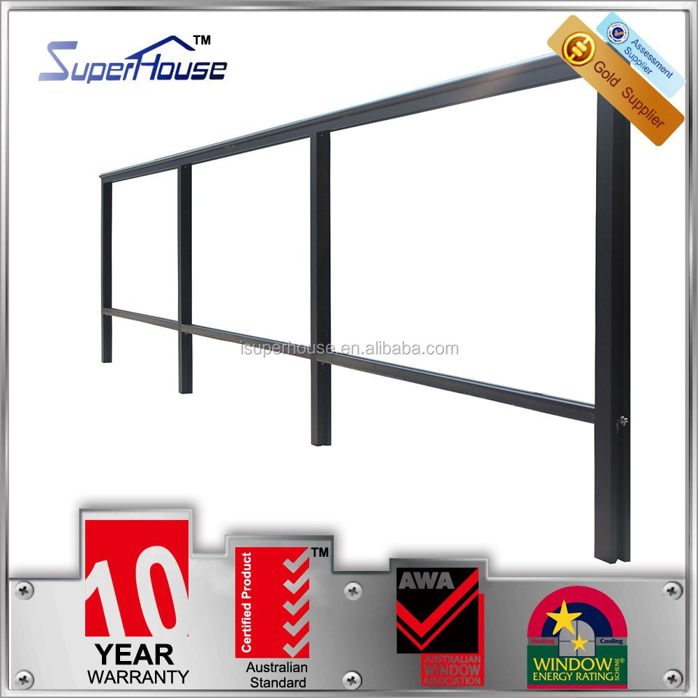 superhouse 10years warranty aluminum handrail for stairs with as2047 standard