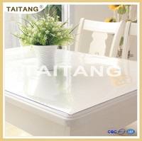 High quality best sale elegant PVC plastic transparent table cover