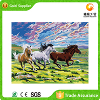 Wholesale price fashion present for wall decor horse mosaic diy diamond pattern