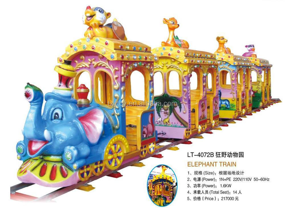 High quality !!! Amusement Park Mini Elephant Train for sale LT-4072B