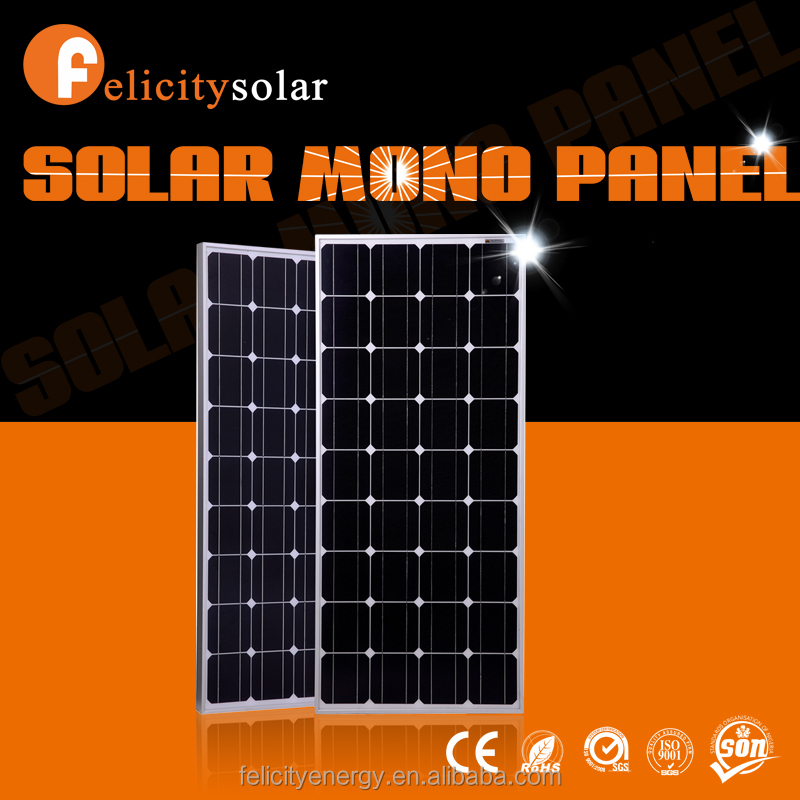 Felicitysolar china supplier high quality 100w mono cheapest round mounting solar panel