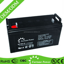 Low discharge rate Sealed lead acid deep cycle 100ah dc 12v battery