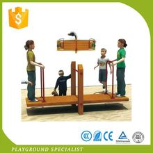 Customized Curved Wooden Slide Outdoor Playground Slides Set