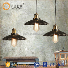 metal filament pendant aged steel vintage industrial pendant light