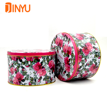 China factory food grade round cookie tin can promotional metal tins wholesale