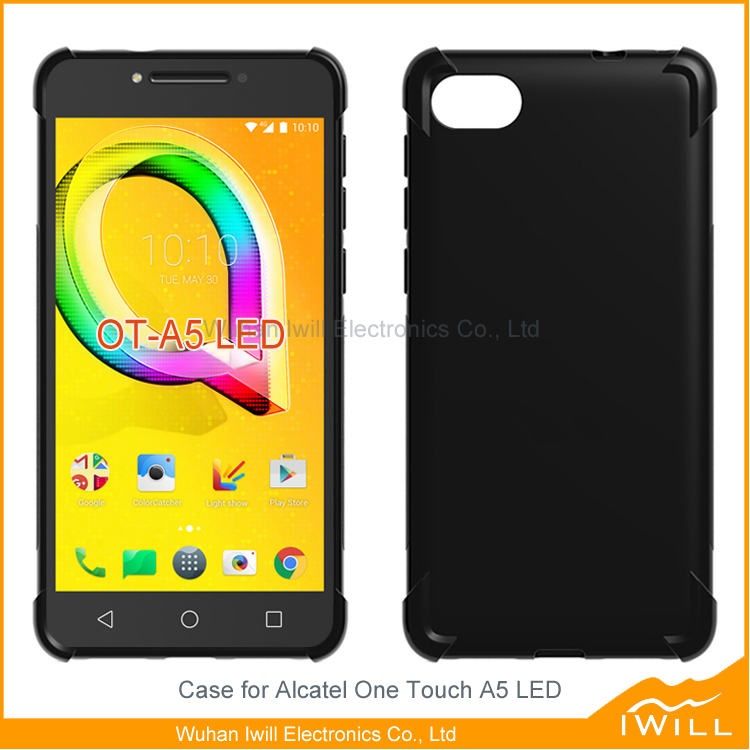 Alpha tpu cover shockproof tpu case for Alcatel One Touch A5 LED crashproof cover skin