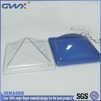 Plastic roofing building material polycarbonate sheet dome skylight