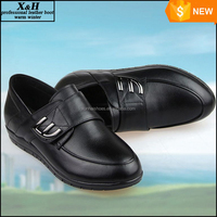 Plus Size 39-45 Genuine Leather 2015 Women Flats Mocassin Loafers Autumn/Winter Mother Casual Shoes Rubber Shoes for Women