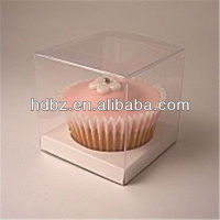 custom clear pvc cupcak box with insert