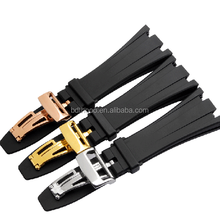 new style high quality 28mm rubber watch strap