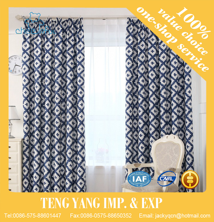 Modern hot sale good quality China manufacturer competitive price unique style picture color blackout polyester designs curtain