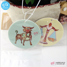 2016 China promotion gift custom printed scented paper unique car air freshener