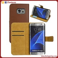 2017 cellular accessories S7 case genuine leather, flip case for samsung s7