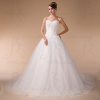 HM96866 Best Selling Ball Gown Beavy Beaded Wedding Dress Patterns Free