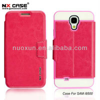2013 Fashion design double cell phone case leather for Samsung I9500