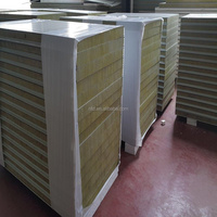 good quality and connection basalt rockwool sandwich panel 120kg/m3 density