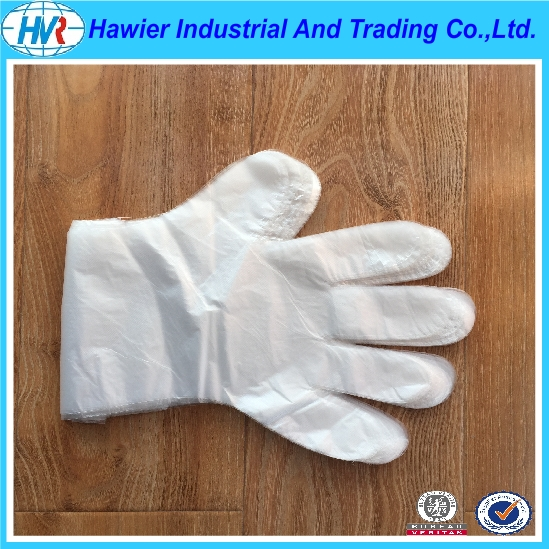Hawier produce clear waterproof disposable PE gloves