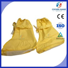 Food Handing Yellow Boot Cover with Non Skid Botton By Disposable Shoe Cover Machine