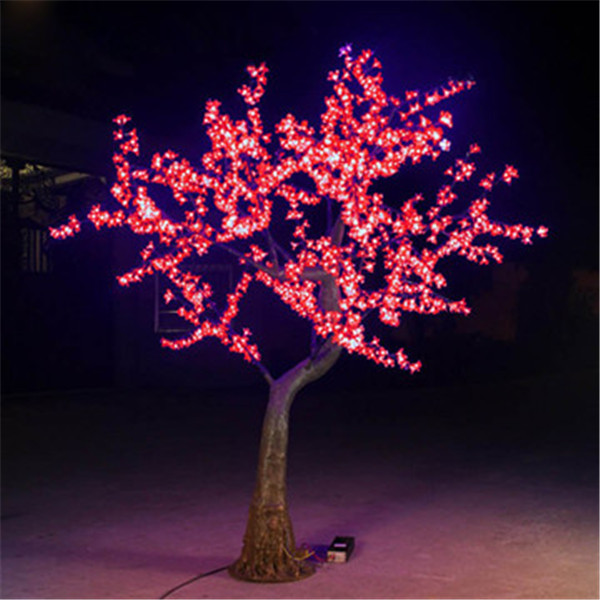 artificial white lighted branch tree outdoor led cherry tree light