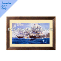 ocean scenery photo top quality wooden photo frame wall art home wall decoration