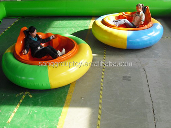 Hot attractive kids battery operated UFO inflatable bumper car
