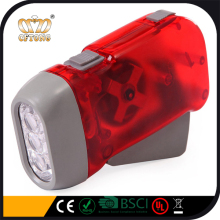 Energy Save Hand Crank 3 LED Dynamo Flashlight 2 LED Dynamo Light