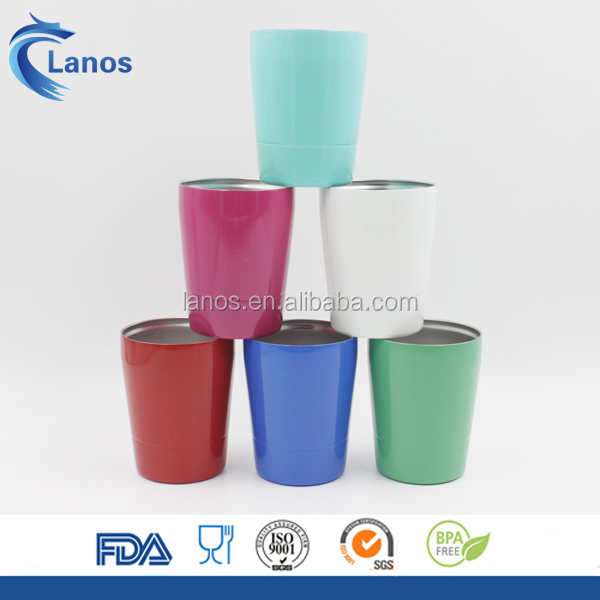 2017 newly developed new design 10oz stainless mug steel insulated small pineapple tumbler mini mug with transparent lid &straw