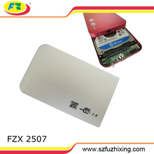 portable external external hdd casing 2.5 SATA FOR HARD DRIVE HDD USB2.0 Red Blue Black Silver
