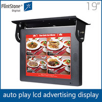 Flintstone 19 inch digital signage pop display, lcd monitor panel, bus electronic display flat screen tv
