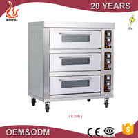 China supplier 3 Layers 9 Trays Bakery Electric Deck Oven/Double Oven/Heavy Duty Oven