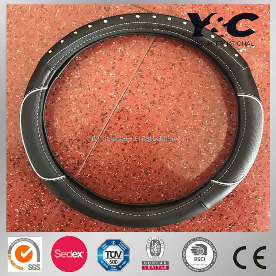 2017 Hot Sale New Design PU/PVC Car Steering wheel cover