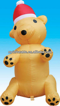 inflatable golden bear