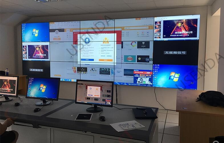 "China factory direct sell 55"" tiled lcd display videowall with super narrow seamless bezel 3.5mm in 3x3"