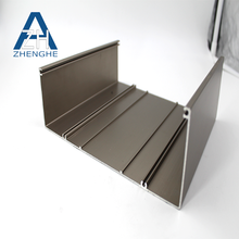 Aluminum U Channel sliding structure furniture profiles
