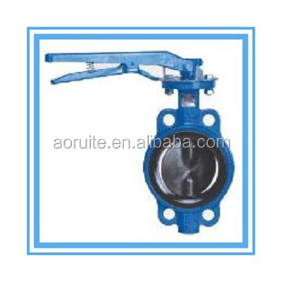 Slim-disc Hand Lever Operation Wafer type Butterfly Valve made in China