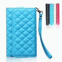 Fashion style PU leather wallet phone case pouch with card slots for iphone 7, samsung, huawei